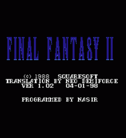 Final Fantasy 2 [T-French] ROM